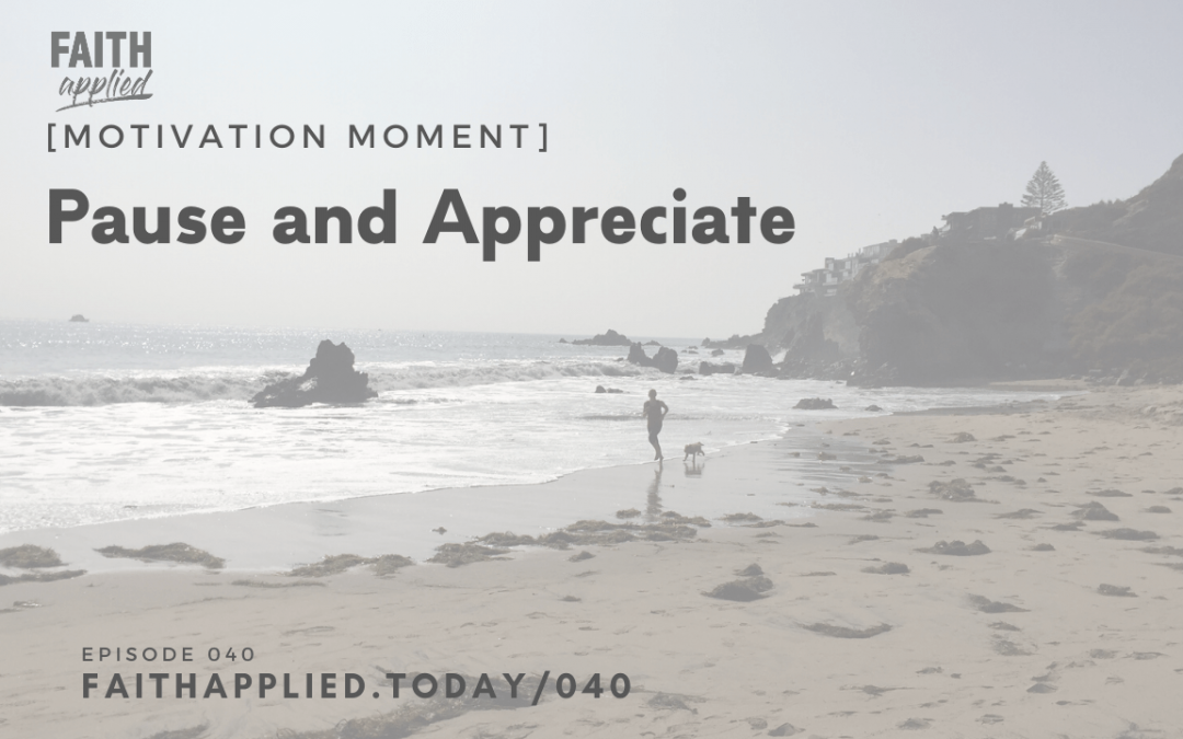 040 [Motivation Moment] Pause and Appreciate